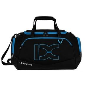 IX LK8035 Scratchproof Waterproof Dry Wet Separation Crossbody One-shoulder Yoga Fitness Travel Bag, Capacity: 40L (Black Blue)
