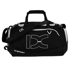 IX LK8035 Scratchproof Waterproof Dry Wet Separation Crossbody One-shoulder Yoga Fitness Travel Bag  Capacity: 40L (White + Black)