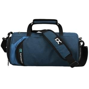IX LK8036A Waterproof Multi-function Dry Wet Separation Yoga Fitness  One-shoulder Portable Travel Bag with Pull Rod Strap, Size: 45 x 26 x 26cm(Blue)