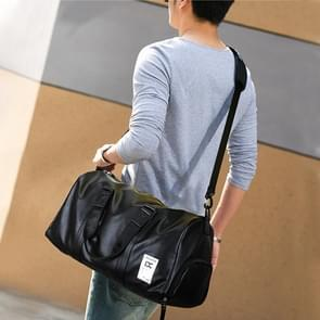 IX LK8068 Waterproof Cylinder Shape PU Leather One-shoulder Portable Fitness Travel Bag, Size: 40 x 23 x 22cm