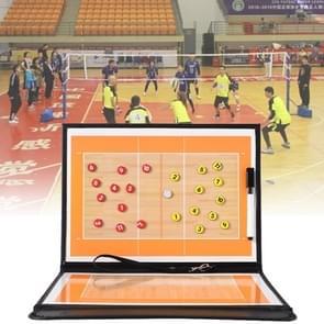 Volleybal Coach Board tactische plaat Handbal Coaching Sets Volley bal apparatuur opleiding magnetische korrels & Pen