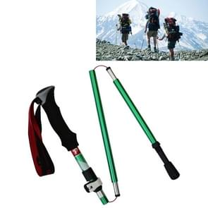 5 Node Portable Foldable Aluminium Alloy Alpenstocks Trekking Poles, Folding Length : 28.5CM (Green)