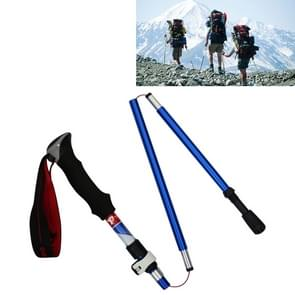 5 Node Portable Foldable Aluminium Alloy Alpenstocks Trekking Poles, Folding Length : 28.5CM (Blue)