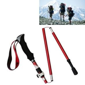 5 Node Portable Foldable Aluminium Alloy Alpenstocks Trekking Poles, Folding Length : 28.5CM (Red)