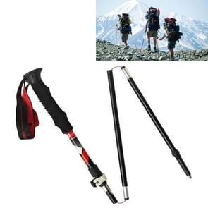 5 Node Portable Foldable Aluminium Alloy Alpenstocks Trekking Poles, Folding Length : 35CM (Black)