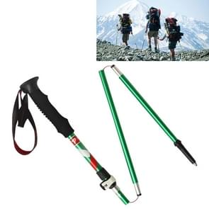 5 Node Portable Foldable Aluminium Alloy Alpenstocks Trekking Poles, Folding Length : 35CM (Green)