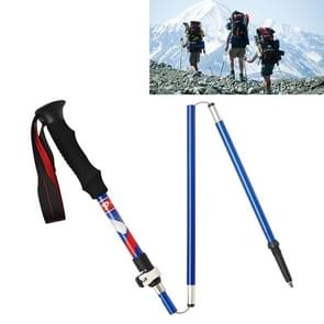 5 Node Portable Foldable Aluminium Alloy Alpenstocks Trekking Poles, Folding Length : 35CM (Blue)