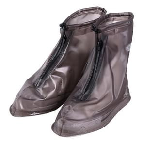 Fashion PVC Non-slip Waterproof Thick-soled Shoe Cover Size: S (Coffee)