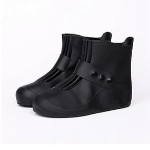 Fashion Integrated PVC Waterproof  Non-slip Shoe Cover with Thickened Soles Size: 32-33 (Black)