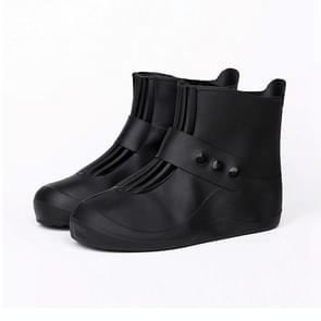Fashion Integrated PVC Waterproof  Non-slip Shoe Cover with Thickened Soles Size: 34-35 (Black)