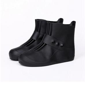 Fashion Integrated PVC Waterproof  Non-slip Shoe Cover with Thickened Soles Size: 36-37 (Black)