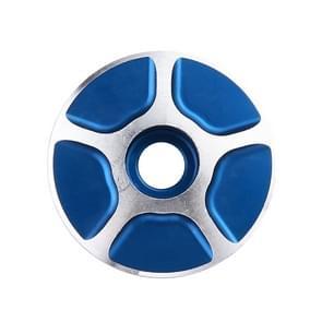 1 paar C17 fiets CNC aluminium fiets headset Cap (blauw)
