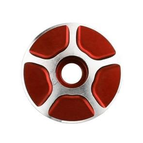 1 Pair C17 Bicycle CNC Aluminum Bike Headset Cap (Red)