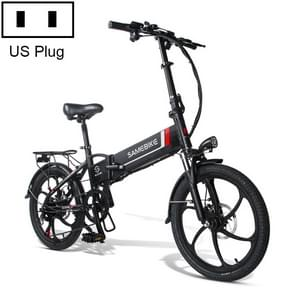 [US Warehouse] 20LVXD30 20 Inch 48V Lithium Battery 350W Mini Valet Driving Folding Electric Bicycle (Zwart)