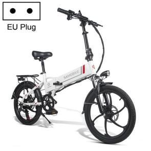 [EU-magazijn] 20LVXD30 20 Inch 48V Lithium batterij 350W Mini Valet rijden vouwen elektrische fiets (wit)