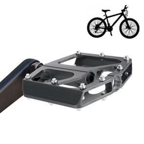 1 Pair M2 Aluminum Alloy Platform Pedals CNC Steel Axle 9/16 inch for Bike MTB BMX(Grey)