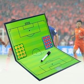 Foldable Football Tactic Board Magnetic Football Coach Board Clipboard Book Cover with Pen