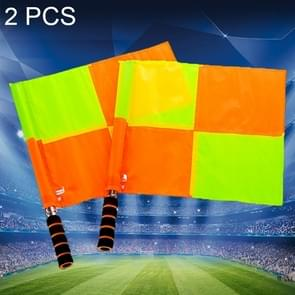 2 PCS Large Square Football Training Banners Flag Football Referee Patrol Flag