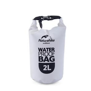 Naturehike 2L Outdoor PVC Cloth Trekking River Drifting Waterproof Bag Ultralight Swimming Bag(White)