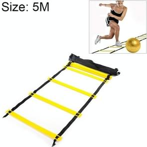 5 Meters 10 Knots Thick Section Pace Training Tough Durable Soft Ladder Football Training Wear Resistant Ladder Rope(Yellow)