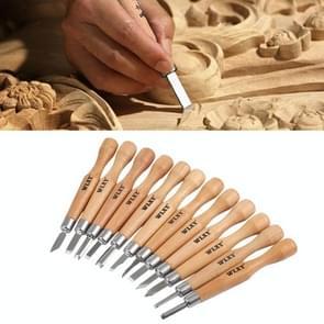 WLXY 12 PCS / Set Wood Carving Chisels Knife Basic Woodcut Working Handmade Rubber Stamps Hand Tools