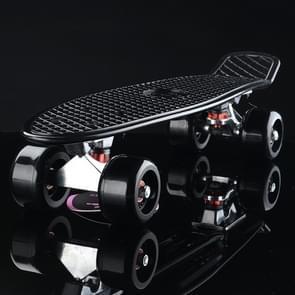 Shining Fish Plate Scooter Single Tilt Four Wheel Skateboard with 72mm Wheel(Black)