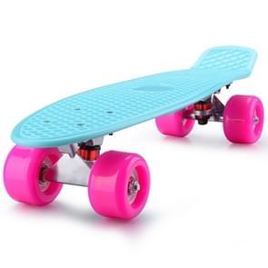 Stralende vis plaat Scooter één Tilt vier wiel Skateboard met 72mm wiel (roze blauw)