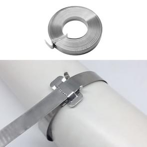 30m 304 Stainless Steel Wire Tray Oil Pipe Tie with Hoop, Size: 12×0.5mm