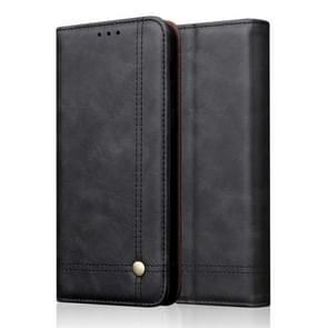 Casual Style Retro Crazy Horse Texture Horizontal Flip Leather Case for OnePlus 7 Pro, with Card Slots & Holder & Wallet (Black)