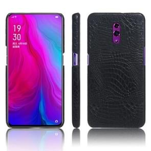 Shockproof Crocodile Texture PC + PU Case for OPPO Reno (Black)