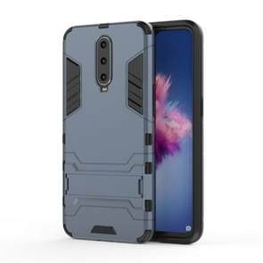 Shockproof PC + TPU  Case for OPPO R17 Pro, with Holder (Navy Blue)