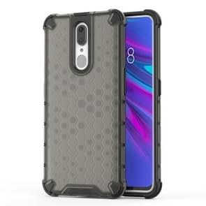 Honeycomb Shockproof PC + TPU Case for OPPO F11(Black)
