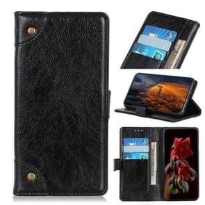 Copper Buckle Nappa Texture Horizontal Flip Leather Case for OPPO Reno 5G, with Holder & Card Slots & Wallet (Black)