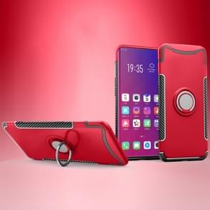 Magnetic 360 Degree Rotation Ring Holder Armor Protective Case for OPPO Find X (Red)