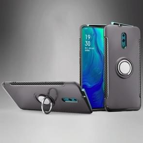 Magnetic 360 Degree Rotation Ring Holder Armor Protective Case for OPPO Reno (Grey)