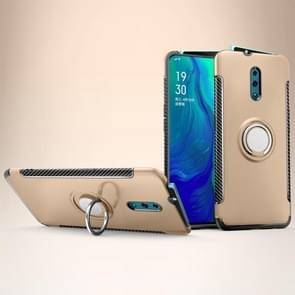 Magnetic 360 Degree Rotation Ring Holder Armor Protective Case for OPPO Reno (Gold)