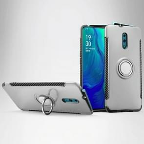 Magnetic 360 Degree Rotation Ring Holder Armor Protective Case for OPPO Reno (Silver)
