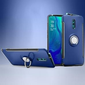Magnetic 360 Degree Rotation Ring Holder Armor Protective Case for OPPO Reno (Sapphire Blue)