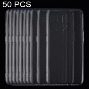 50 PCS 0.75mm Ultrathin Transparent TPU Soft Protective Case for OPPO Reno Z