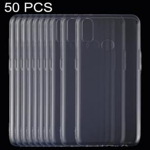 50 PCS 0.75mm Ultrathin Transparent TPU Soft Protective Case for OPPO Realme 3