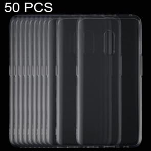 50 PCS 0.75mm Ultrathin Transparent TPU Soft Protective Case for OPPO Realme X