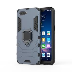 PC + TPU Shockproof Protective Case for OPPO A5, with Magnetic Ring Holder (Grey)