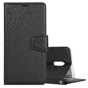Silk Texture Horizontal Flip Leather Case for OPPO Reno, with Holder & Card Slots & Wallet & Photo Frame (Black)