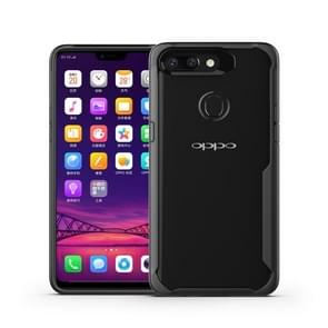 Transparent PC + TPU Full Coverage Shockproof Protective Case for OPPO R15 Pro (Black)