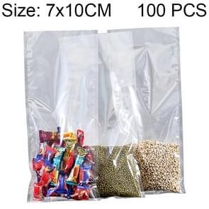 100 PCS Food Vacuum Packaging Transparent Plastic Bag Nylon Fresh-keeping Bag, Size: 7cm x 10cm