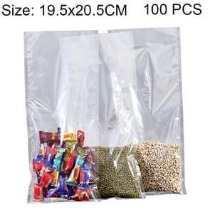 100 PCS Food Vacuum Packaging Transparent Plastic Bag Nylon Fresh-keeping Bag, Size: 19.5cm x 20.5cm