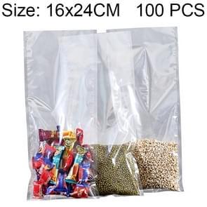 100 PCS Food Vacuum Packaging Transparent Plastic Bag Nylon Fresh-keeping Bag, Size: 16cm x 24cm