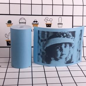 10 stuks thermische label printer papier sticker voor PAPERANG P1/P2/A6  grootte: 57 x 30 mm (blauw)