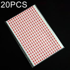 20 stuks rechthoek vorm zelfklevende pijl Rework Sticker Rework Label