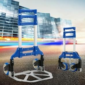 Twee-sectie Vouwen draagbare trolley mini bagage  huishoudelijke boodschappen kleine trolley koffer  belasting 75 kg (Blauw)